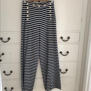 J. Crew Sailor Striped Pants Size 0